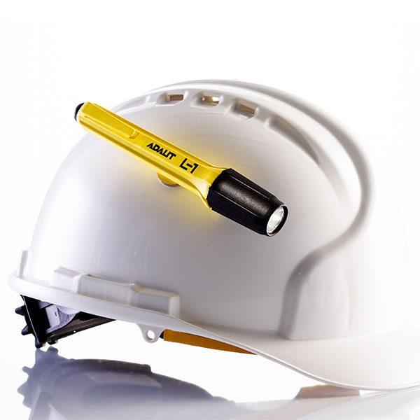 Adalit L1 linterna de seguridad ATEX Zona 0 casco