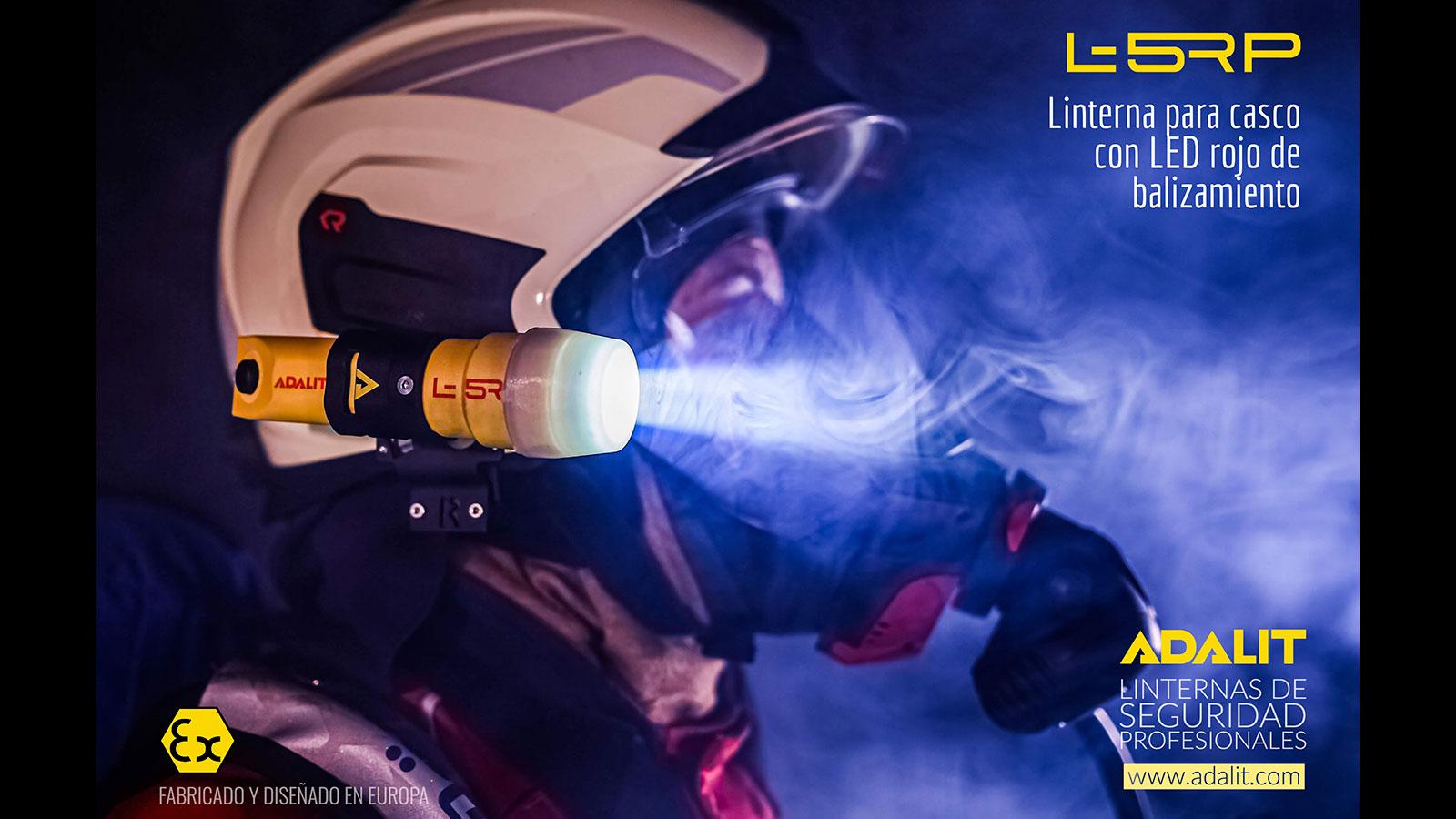 Linterna de seguridad ATEX Adalit L5 bombero