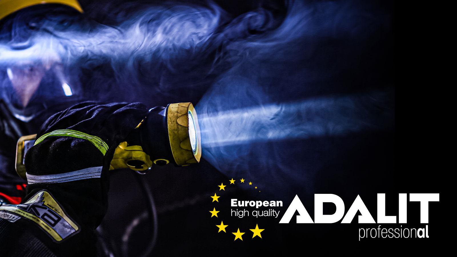 Linterna de seguridad ATEX Adalit L3000 bombero